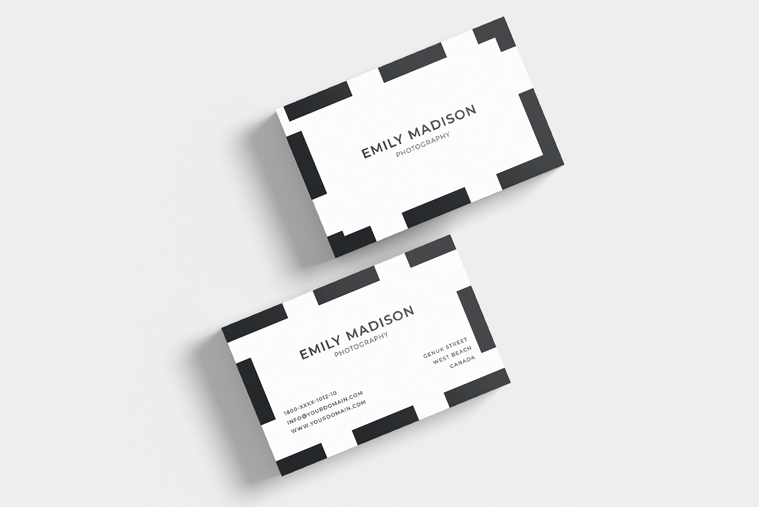 Clean Minimal Business Card Template example image 2