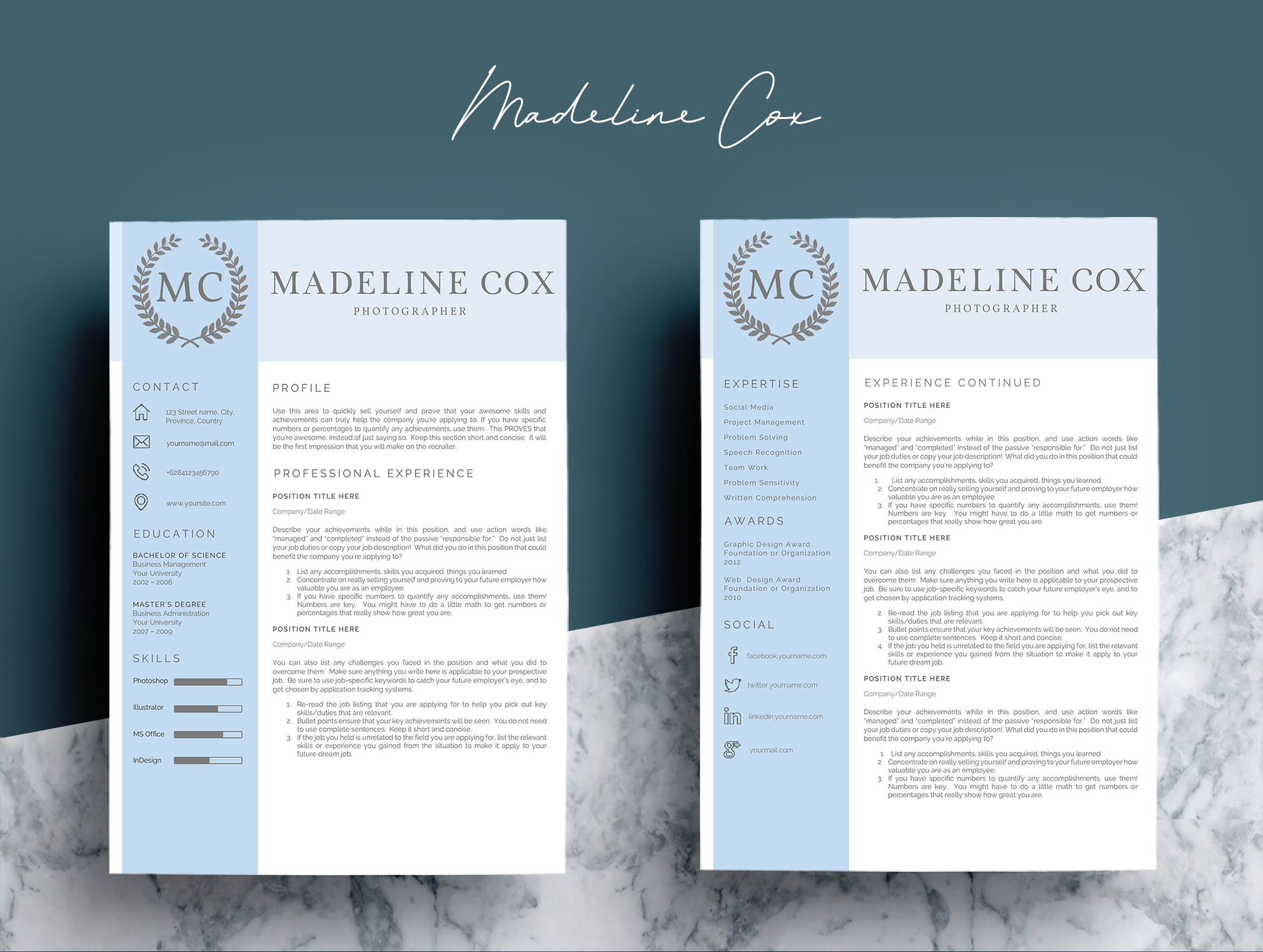 Resume Template Word 5 Pages example image 7