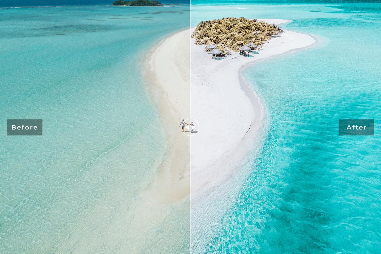 Ocean Blue Mobile & Desktop Lightroom Presets example image 6