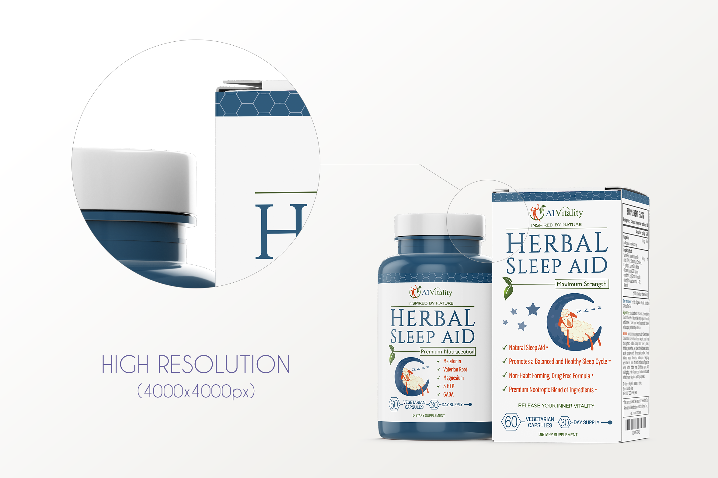 Dietary Supplement Mockup v. 1C example image 5