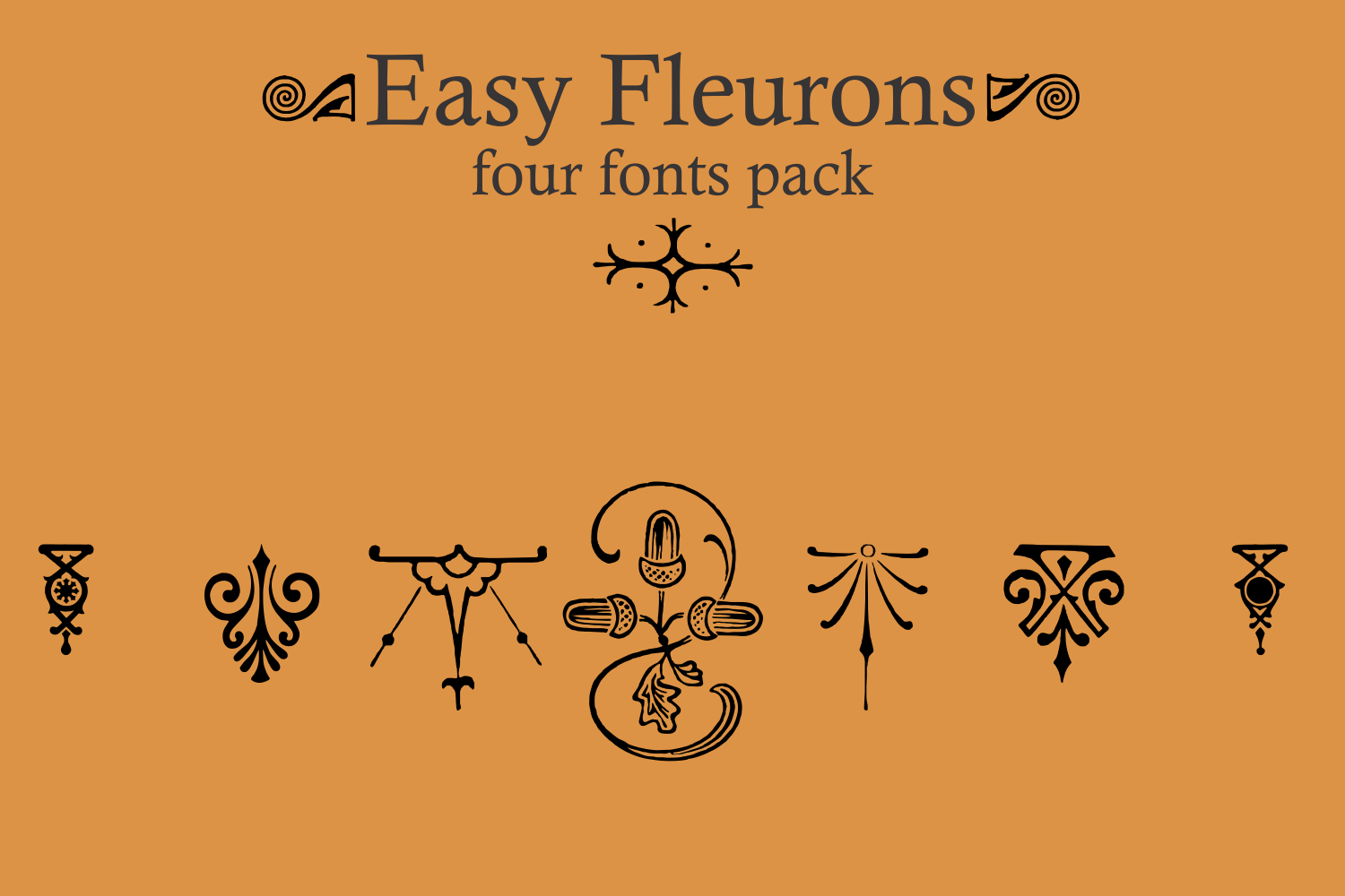 Easy Fleurons Pack (four fonts) example image 3