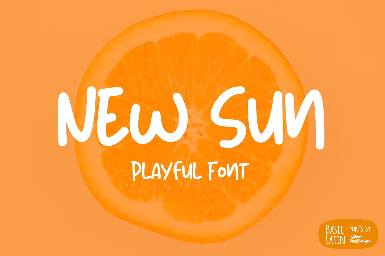 New Sun Playful Font