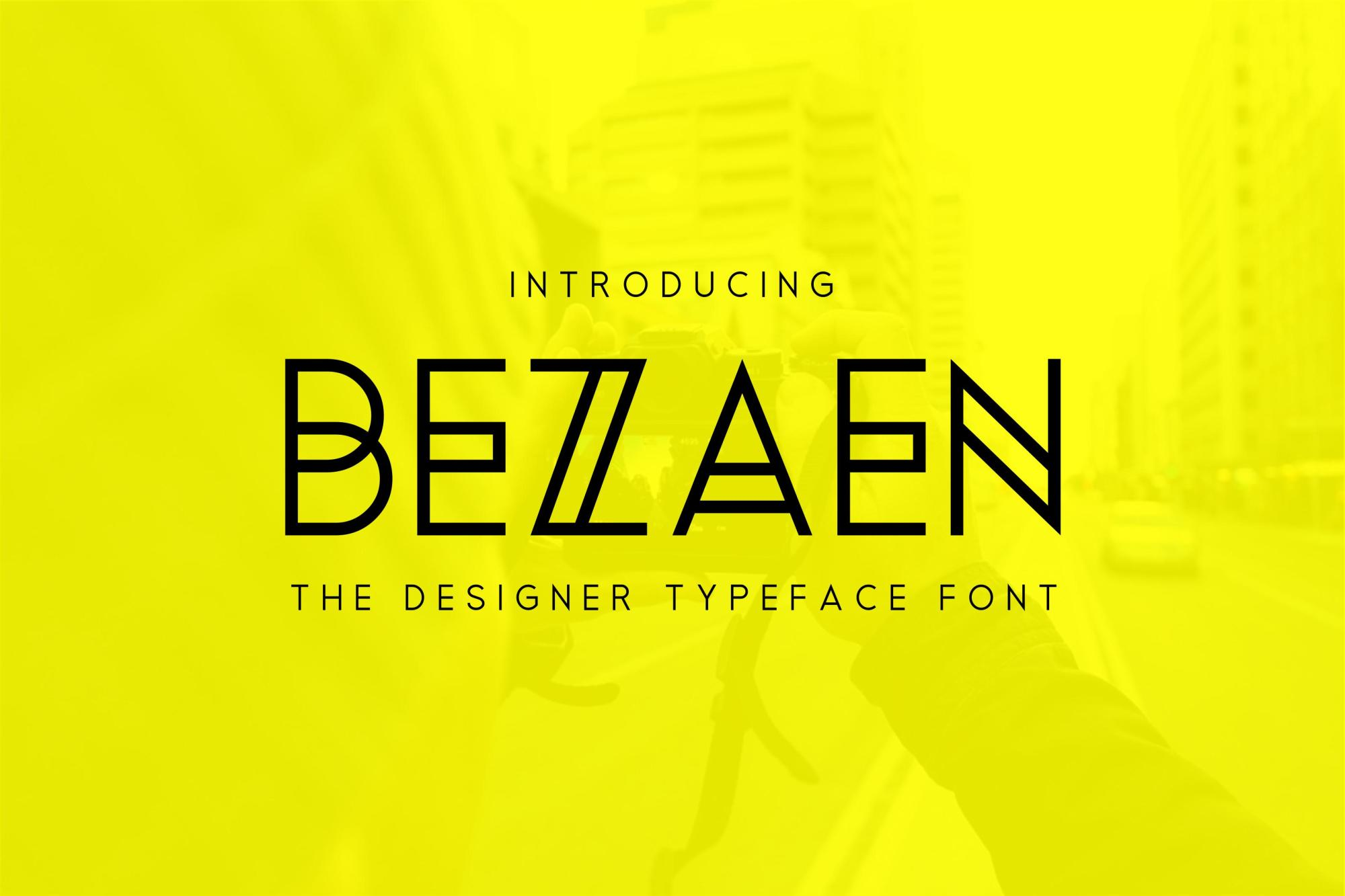 Bezaen Typeface example image 1