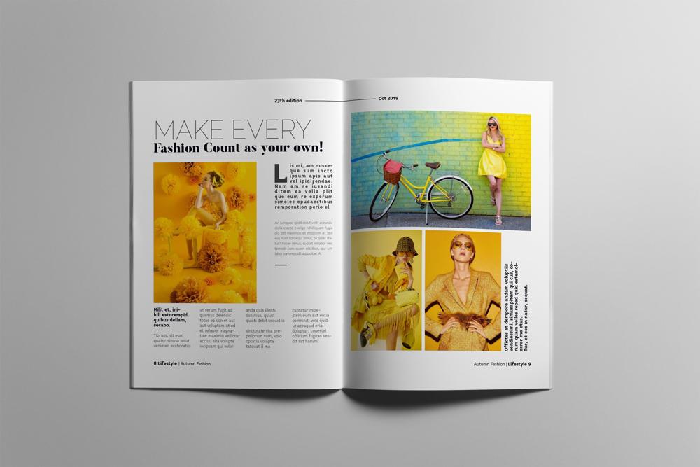 Fashion Magazine Layout Template example image 5
