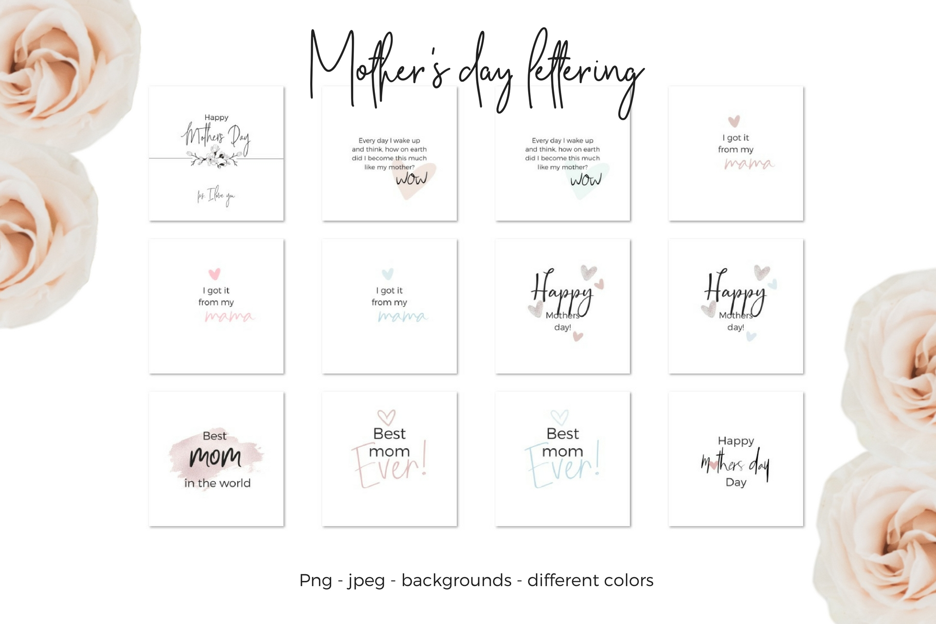 Mother's Day Lettering example image 9