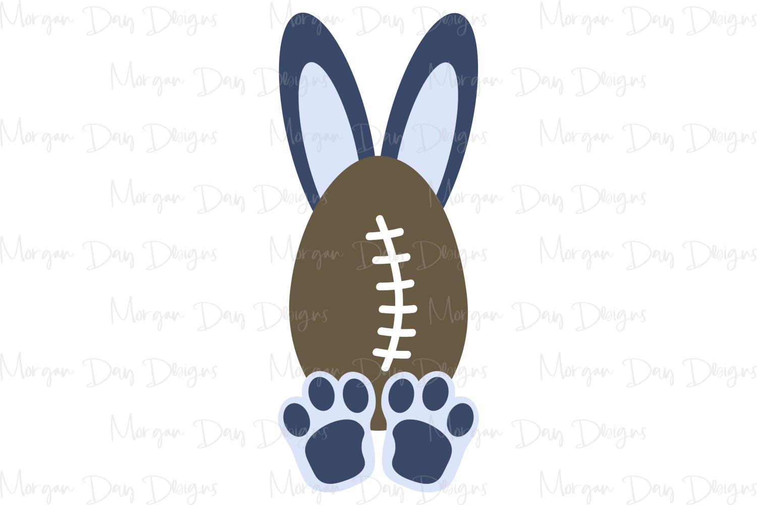 Football Bunny - Easter SVG, DXF, AI, EPS, PNG, JPEG example image 3