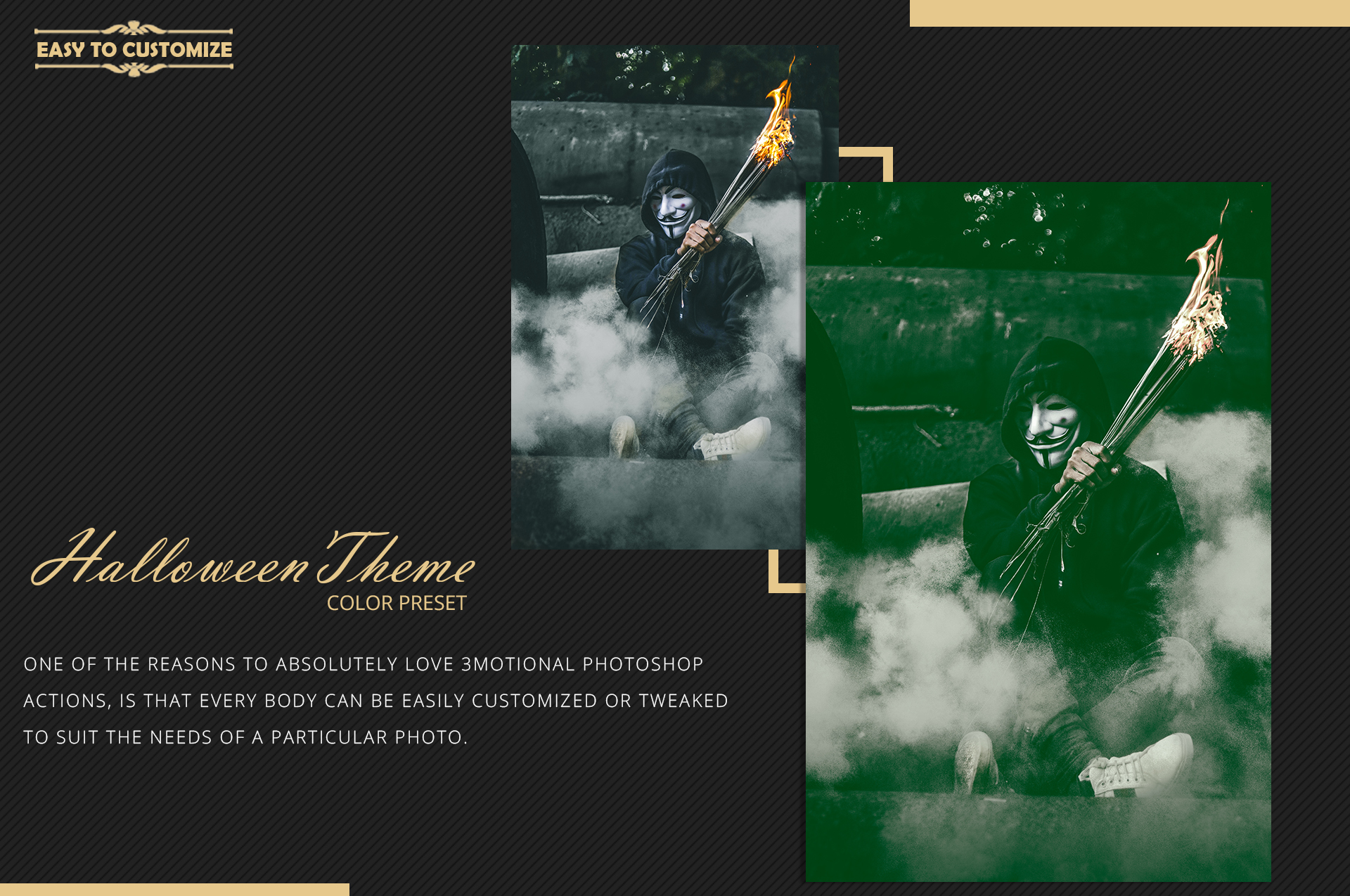 Halloween Theme color grading Photoshop Actions example image 10