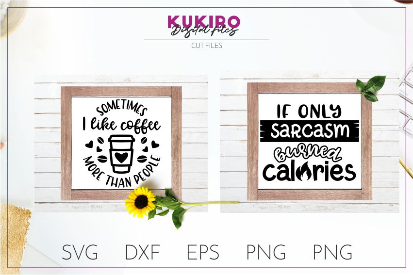 THE SARCASTIC SVG BUNDLE - Funny Cut files example image 3