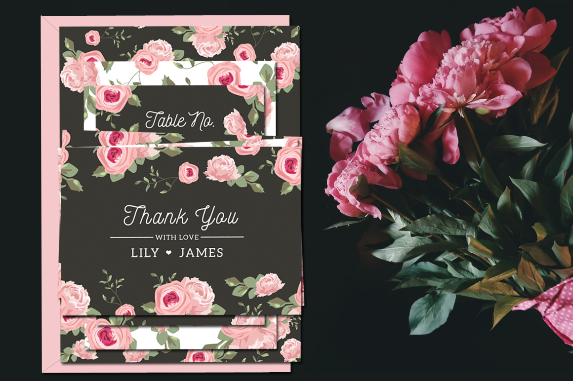 Floral Wedding Invitation Suite example image 2