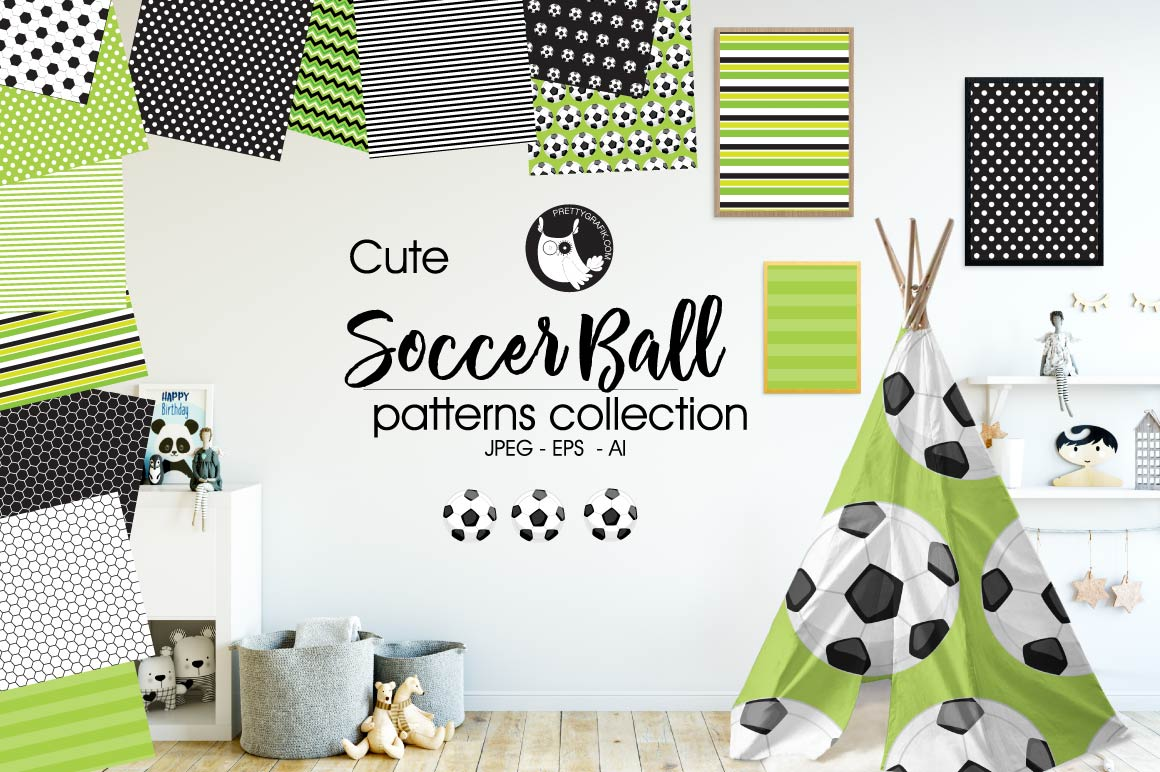 SOCCER-BALL, digital papers example image 1
