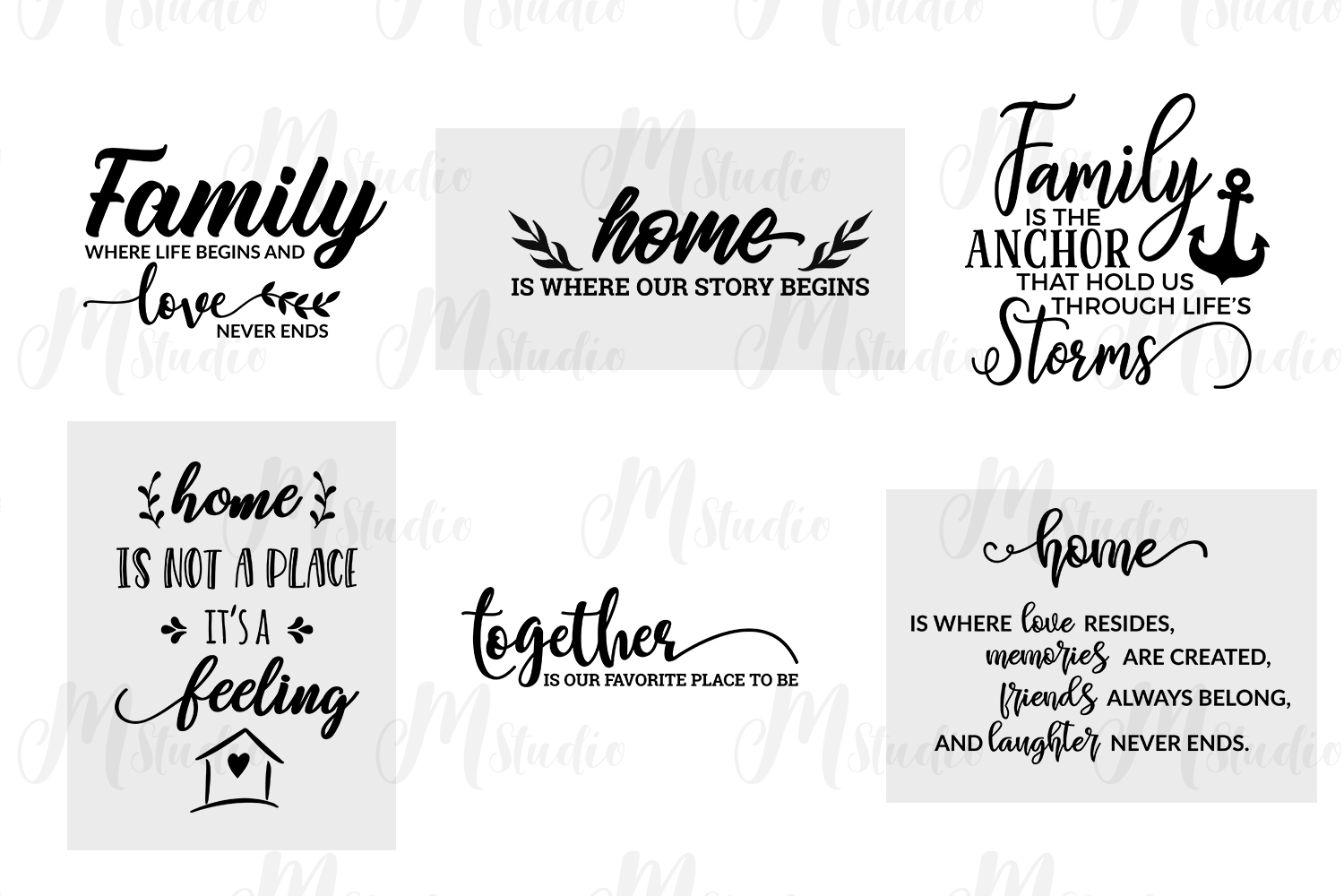 Family Quotes svg bundle example image 4