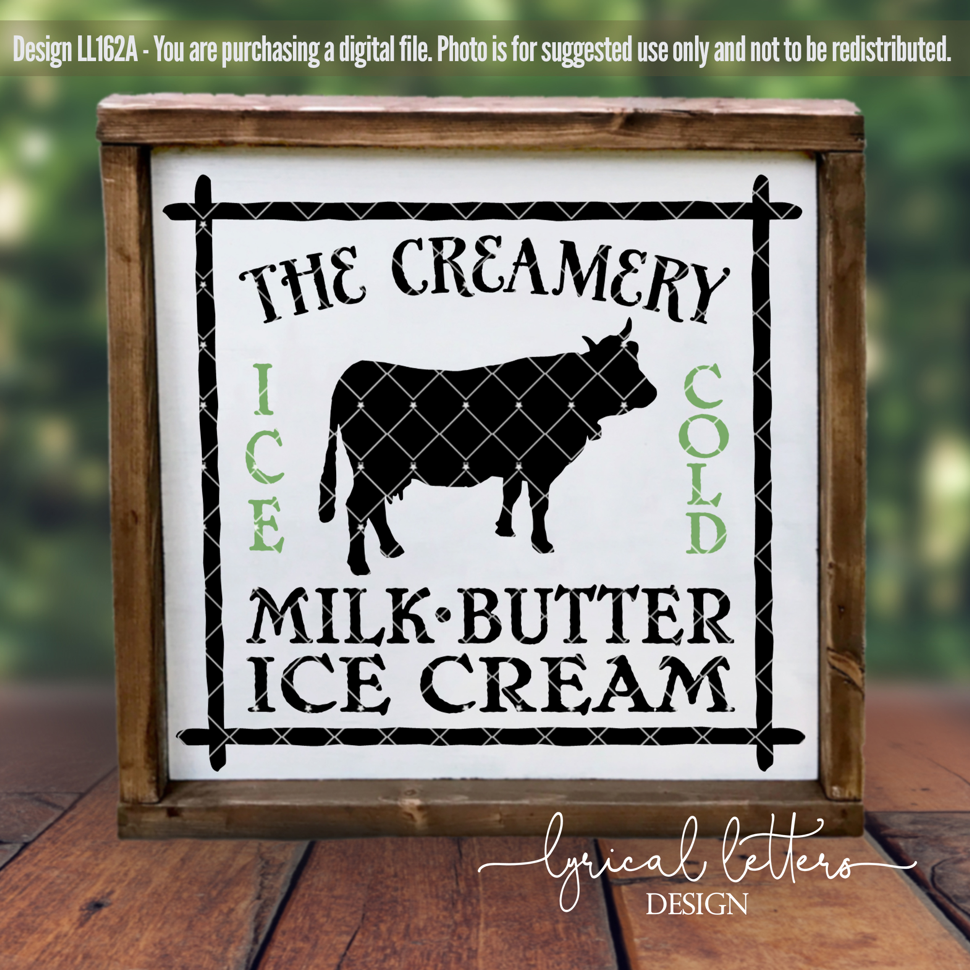 The Creamery with Cow Farmhouse SVG Cut File LL162A example image 2