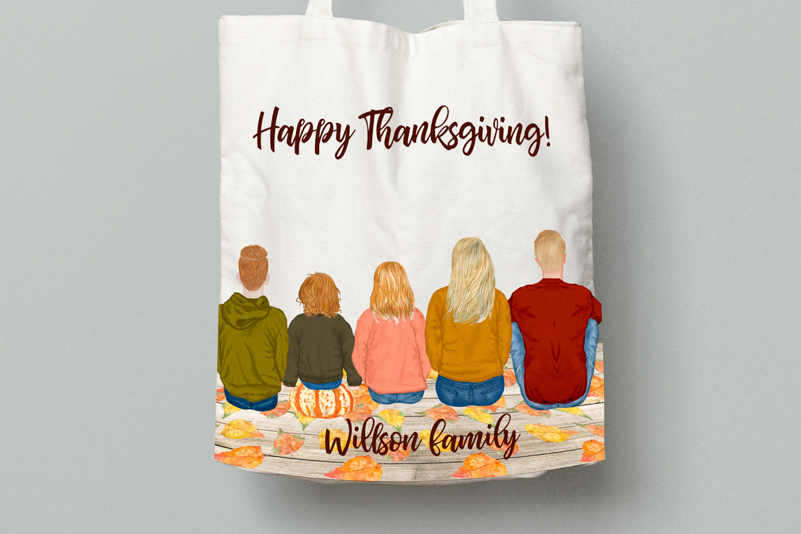 Autumn clipart, Family Clipart, Family Illustrations example image 3