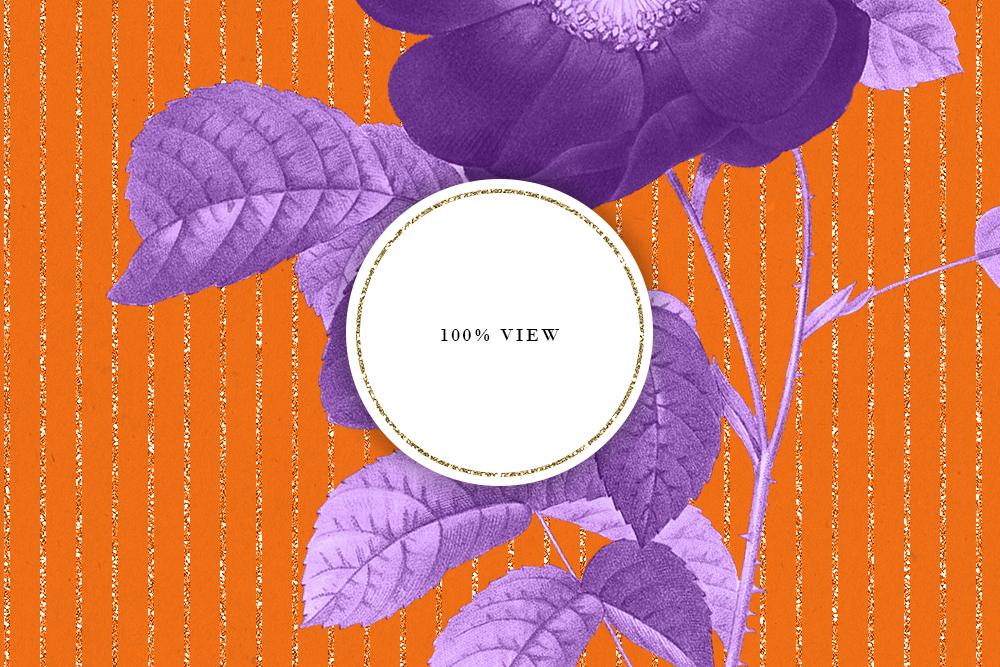 Purple & Orange Antique Botanical Seamless Backgrounds example image 6