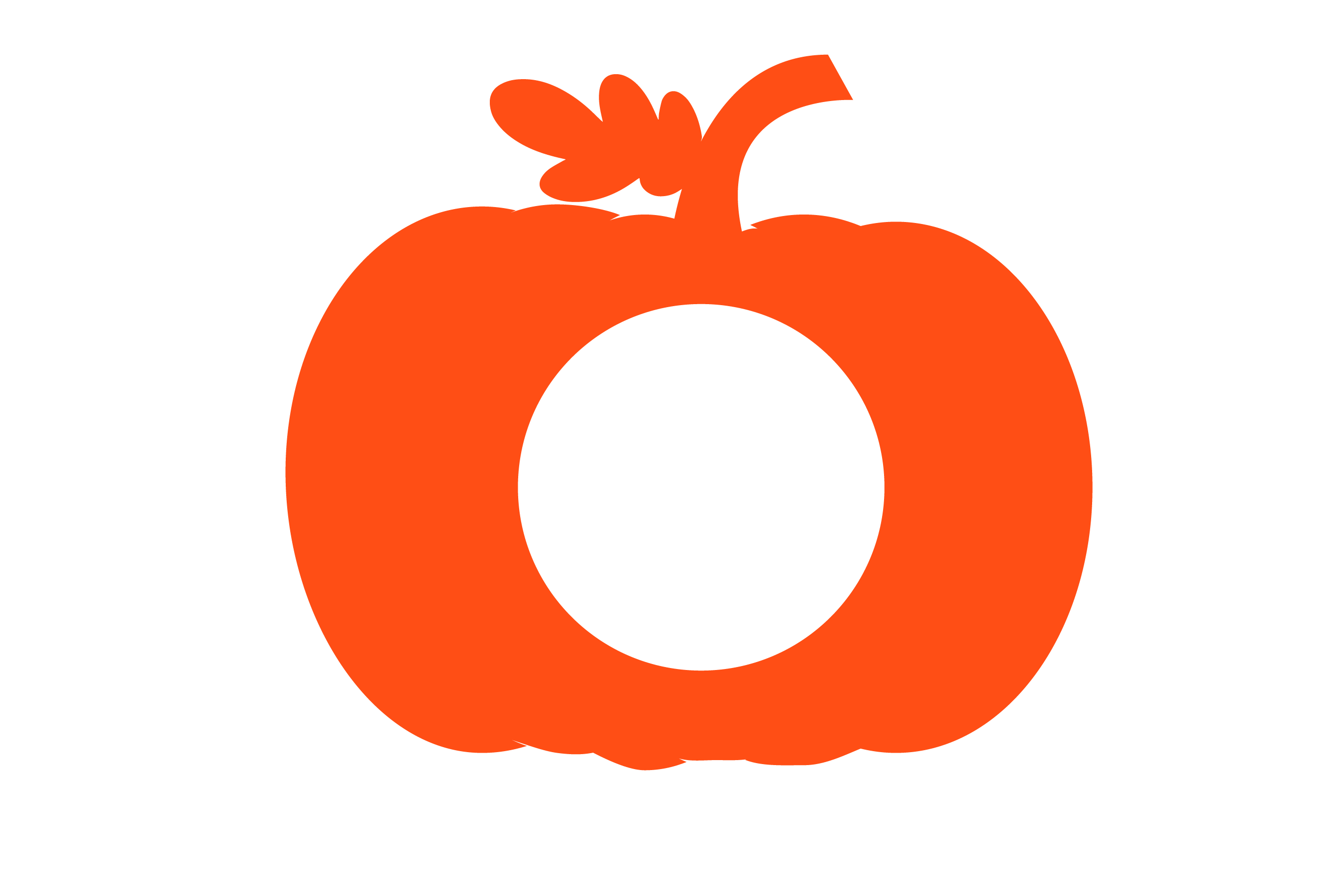 Pumpkin patch - Pumpkin Monogram 5 Designs SVG cut File example image 3