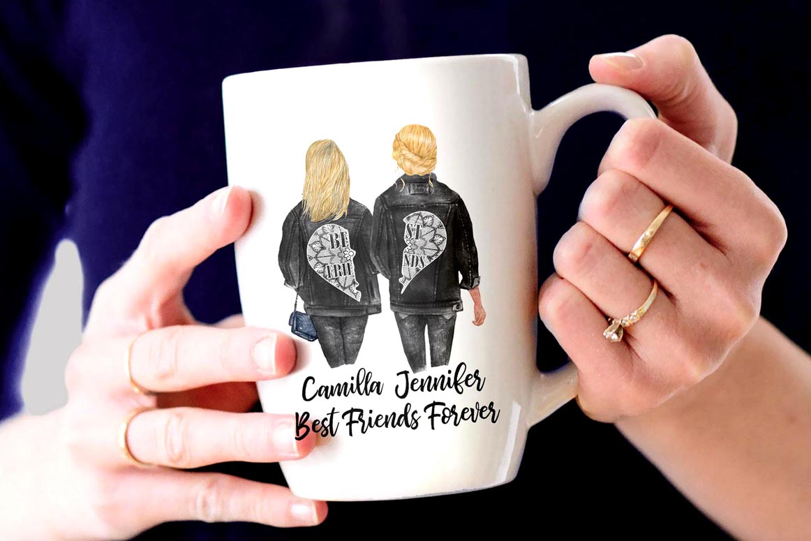 Best Friends Clipart,SOUL SISTERS CLIPART, Bff clipart, example image 7