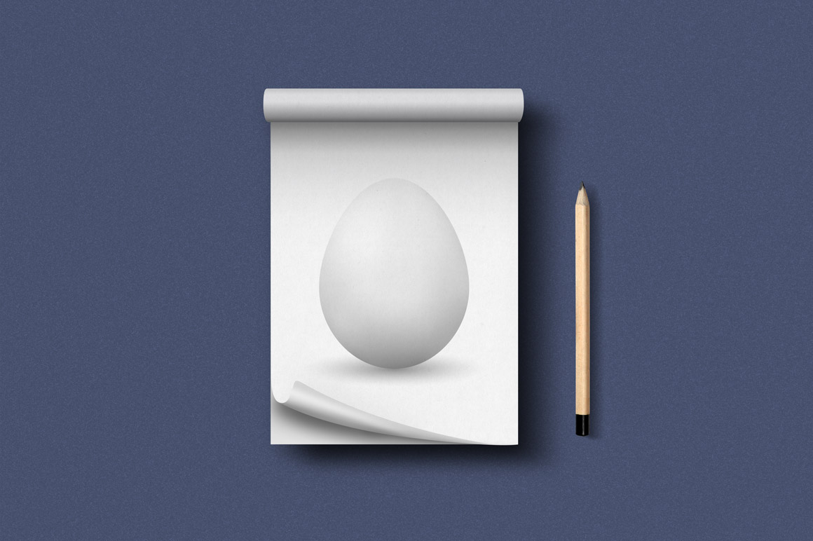 Vector realistic egg with shadow example image 2
