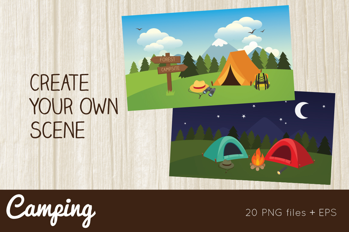Camping Clipart example image 2
