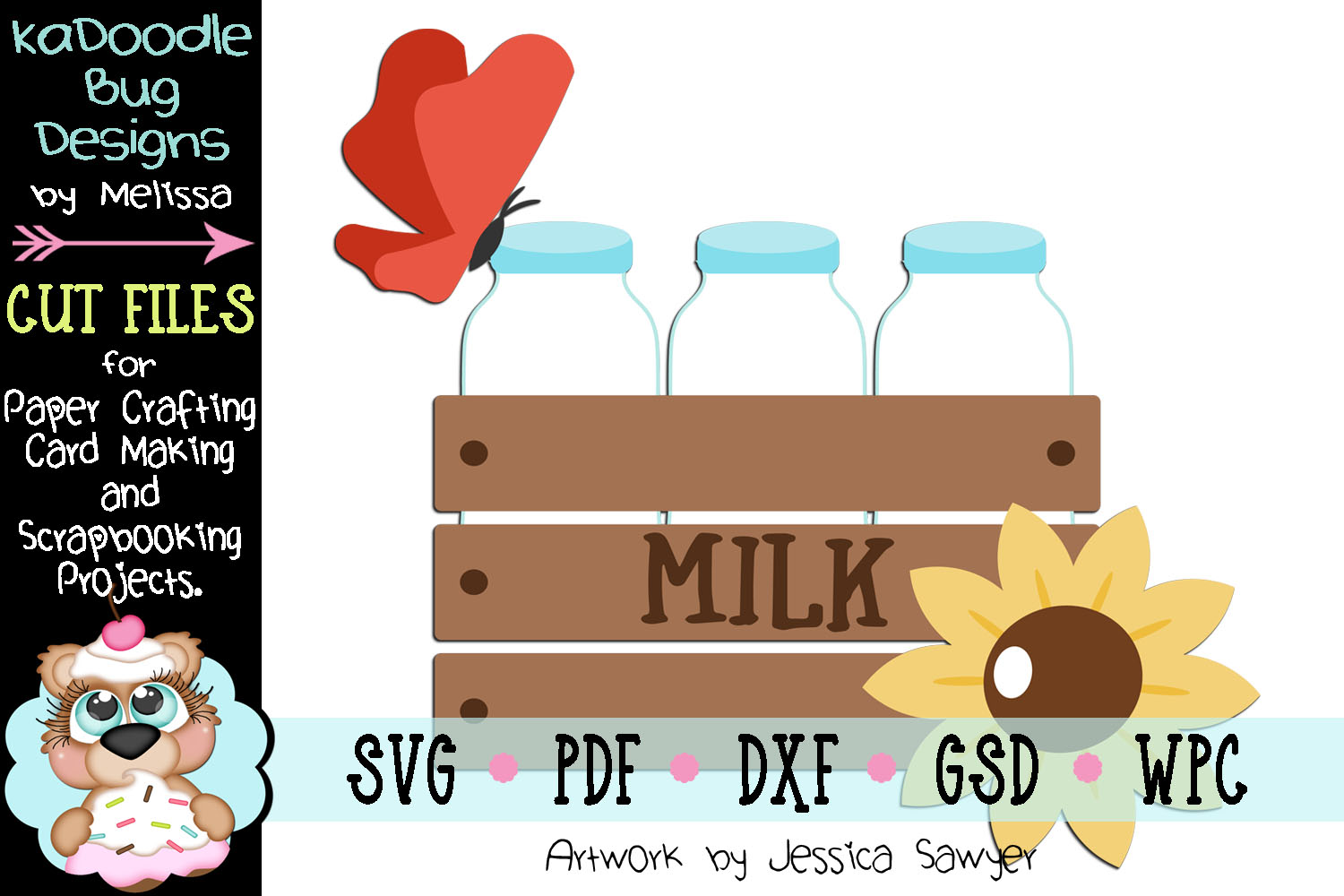 Pretty Milk Crate Cut File - SVG PDF DXF GSD WPC example image 1