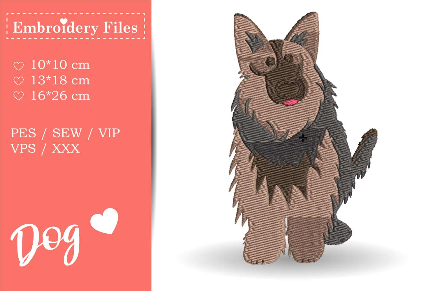 Dogs - Mini Bundle - Embroidery Files for Beginners example image 10