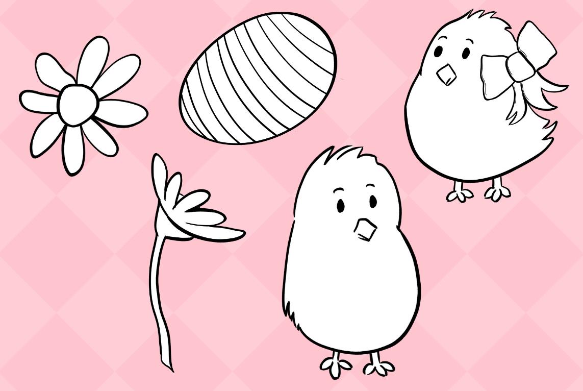 Cute Easter Egg Hunt Digital Stamps example image 4