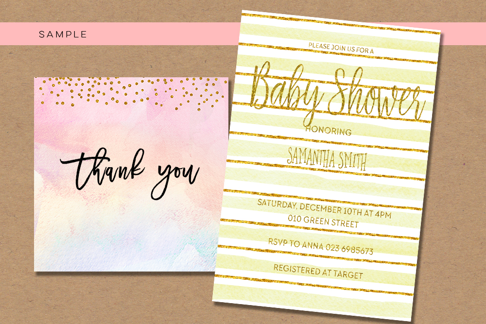 digital download watercolor paper, confetti gold pastel paper, party rainbow watercolor pink digital paper pack, peach, pretty pastel example image 2