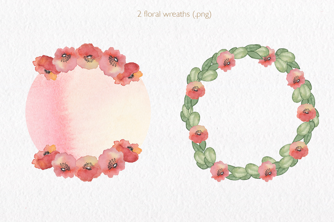 Spring florals. Watercolor floral collection. example image 9