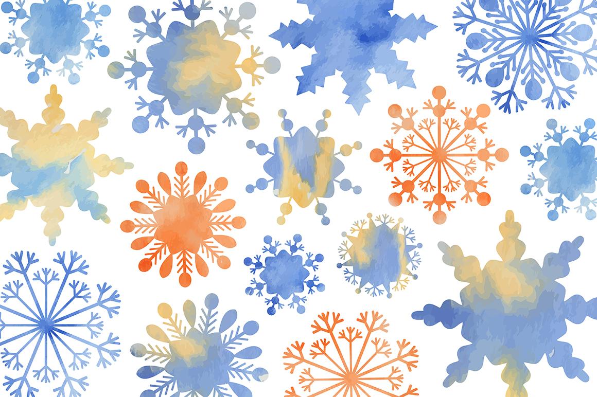 Christmas fantasy. Set snowflakes. example image 4