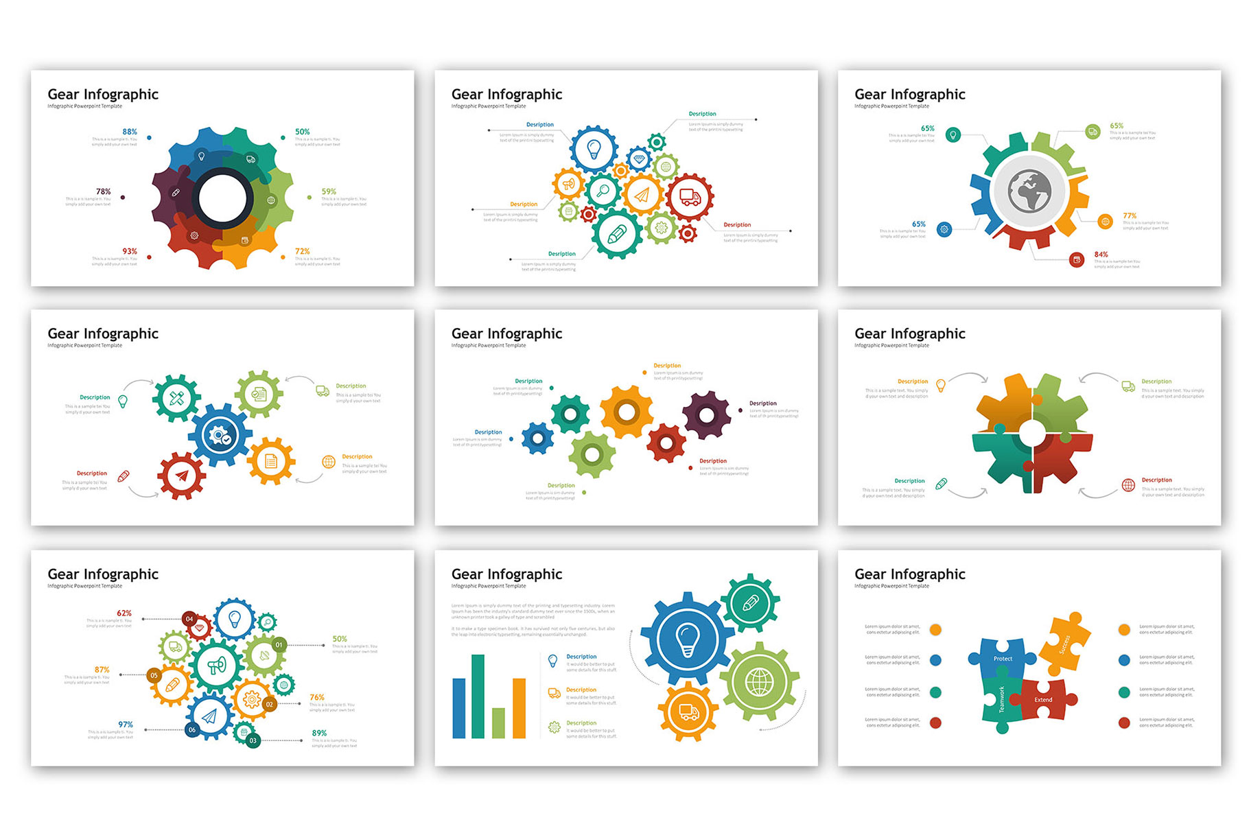 Gear Presentation - Infographic Template example image 2