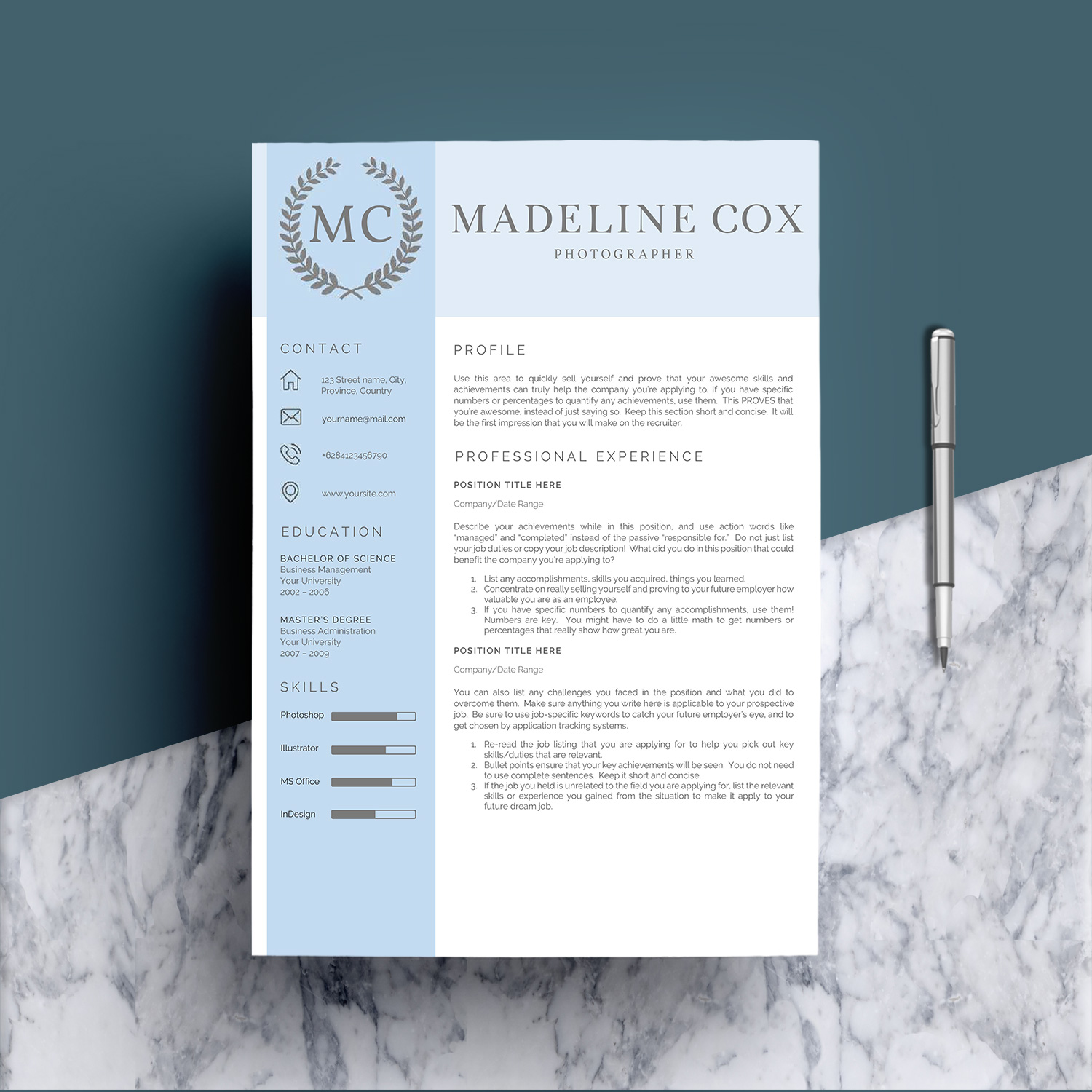 Resume Template Word 5 Pages example image 3