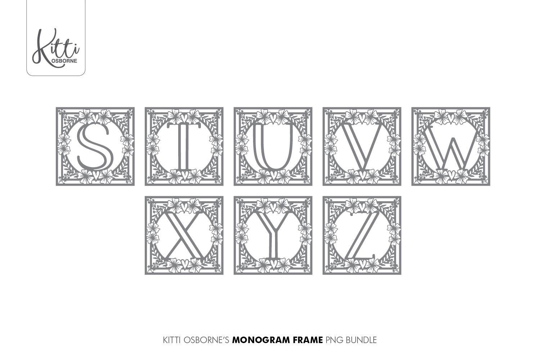 Alphabet Cut File Bundle SVG, PNG, PDF, DXF, JPEG example image 6