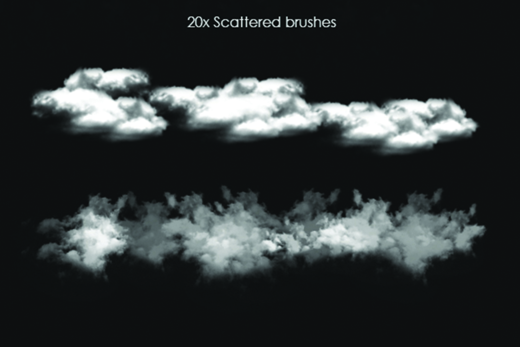 40 Cloud Brushes for Photoshop example image 3