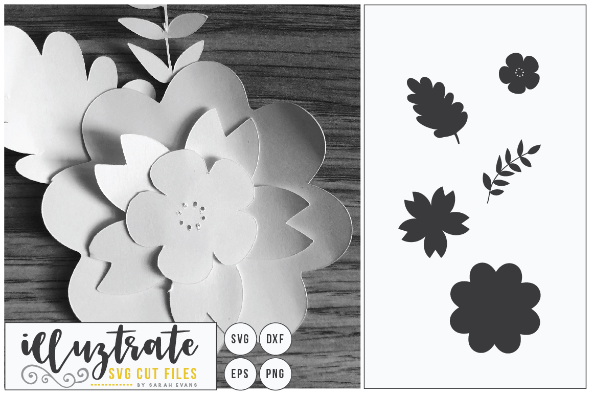 Paper Flower Template Bundle | Paper Cutting Bundle SVG example image 6