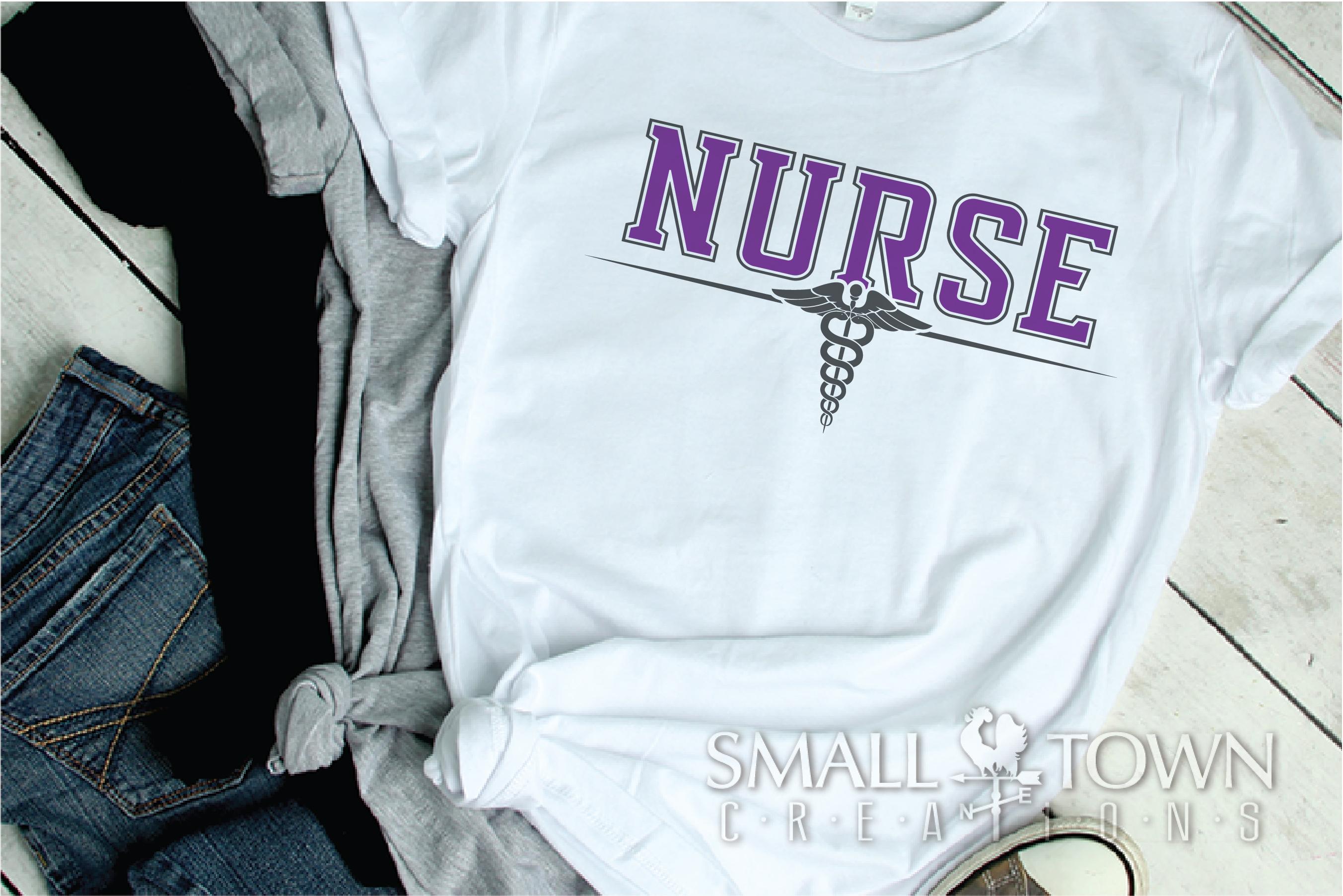 Nurse, Nursing Logo, Caduceus Badge, PRINT, CUT & DESIGN example image 2