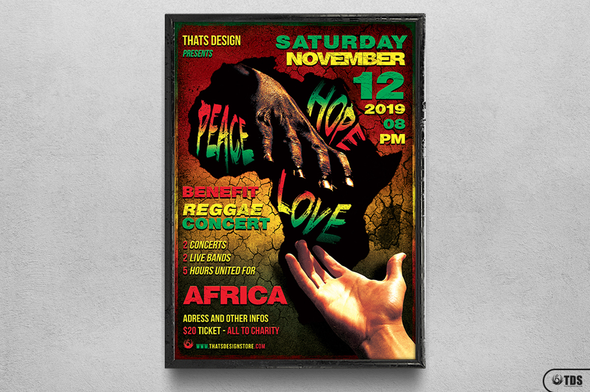 Reggae Africa United Flyer Template  example image 6