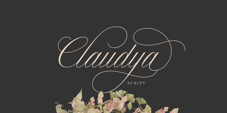 Claudya Script example image 1