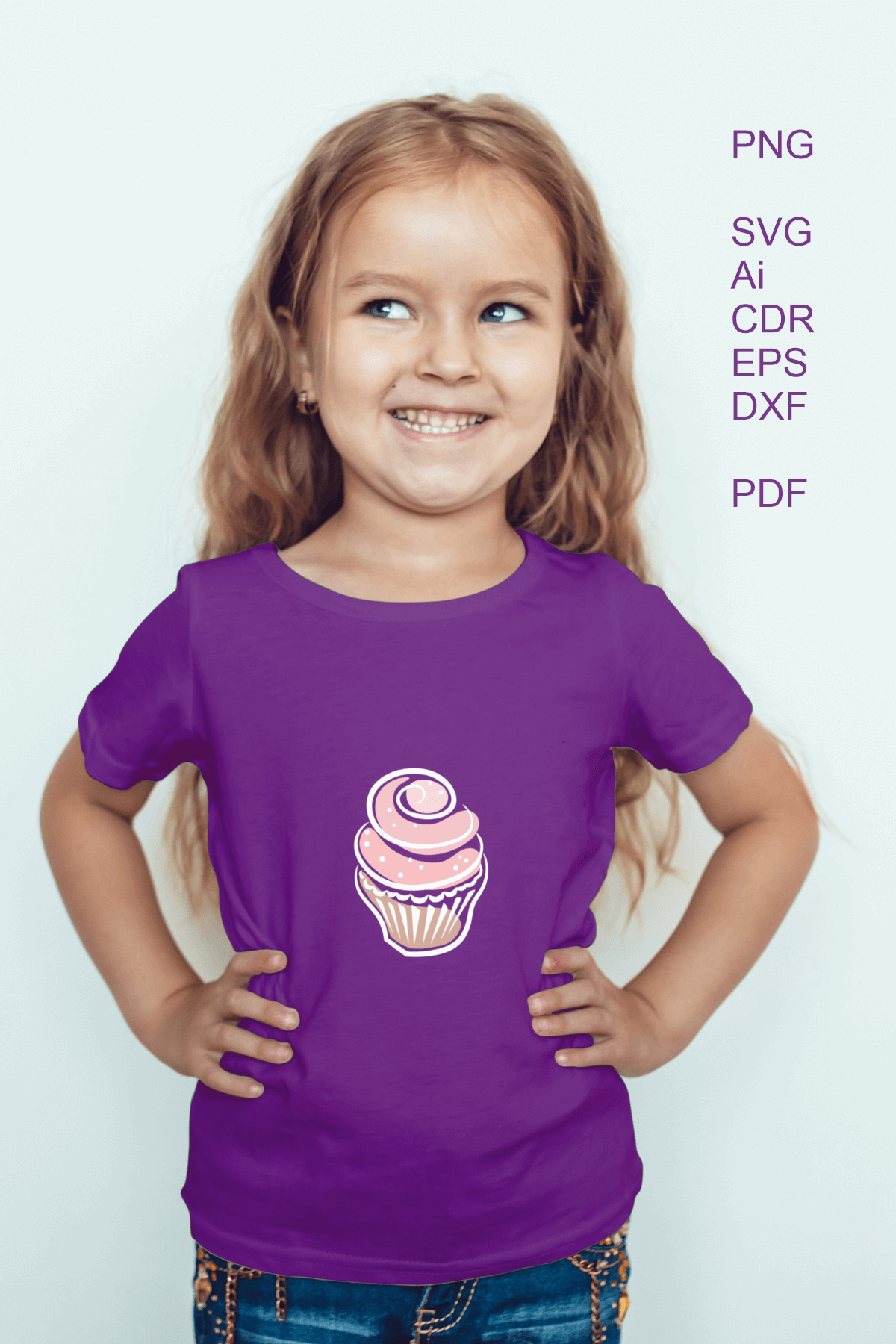 Cupcakes Clipart SVG PDF AI DXF for Crafts and Stationery example image 3