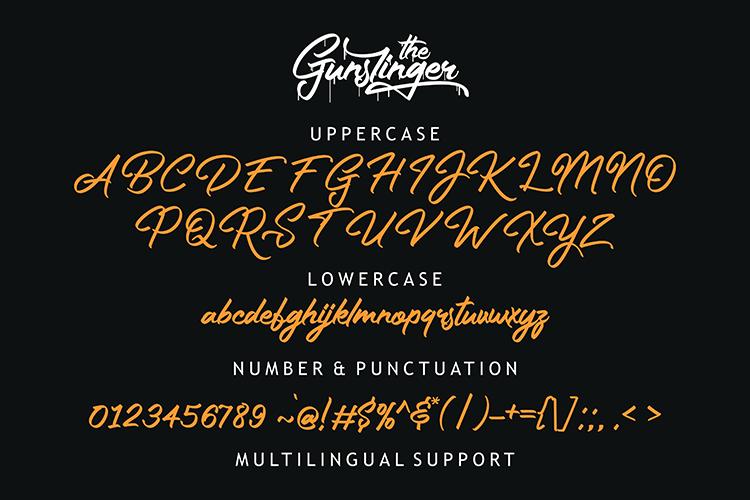 The Gunslinger - 3 Style Font example image 8