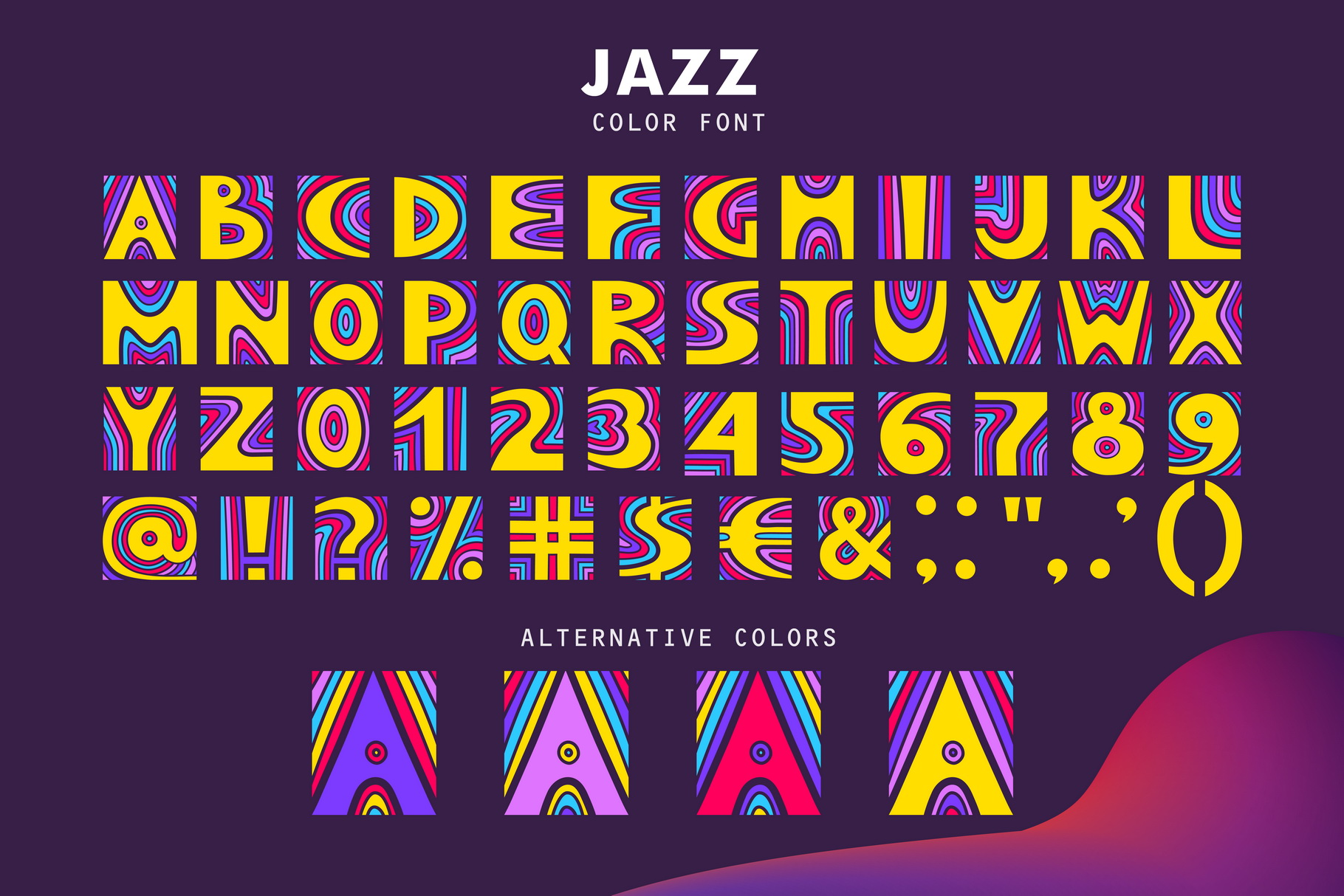 JAZZ - SVG Color Font example image 3