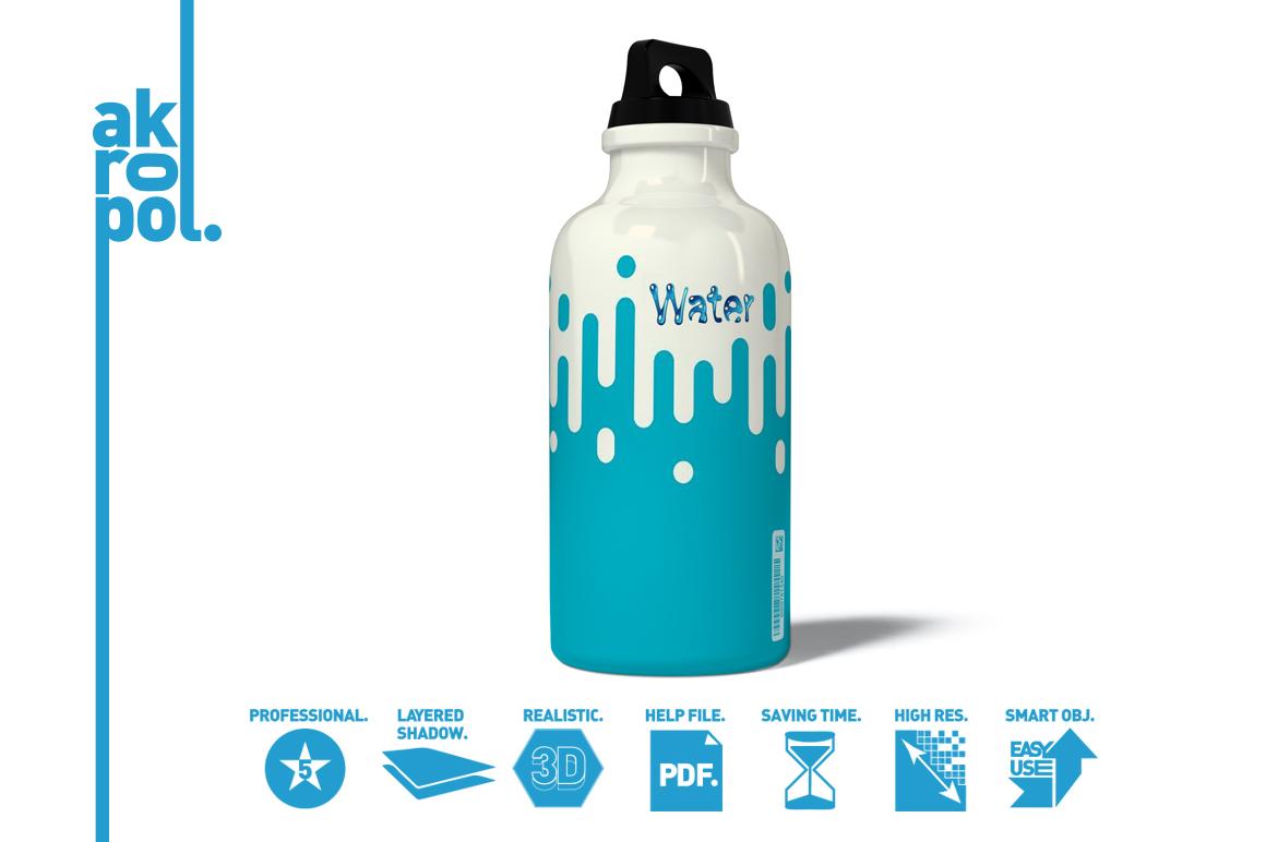 Water Bottle Mock-up example image 4