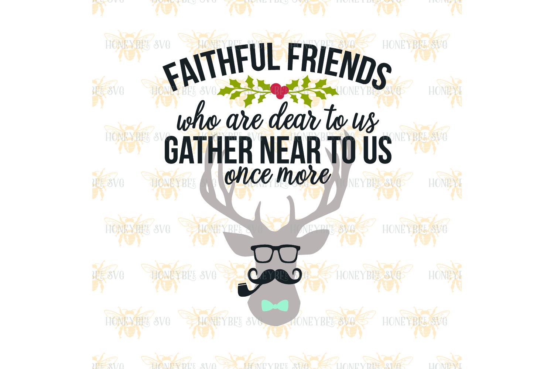 Faithful Friends Hipster Deer svg example image 2