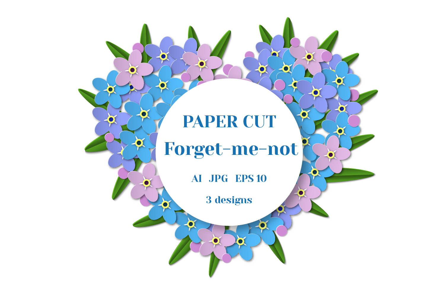 Forget-me-not hearts example image 1