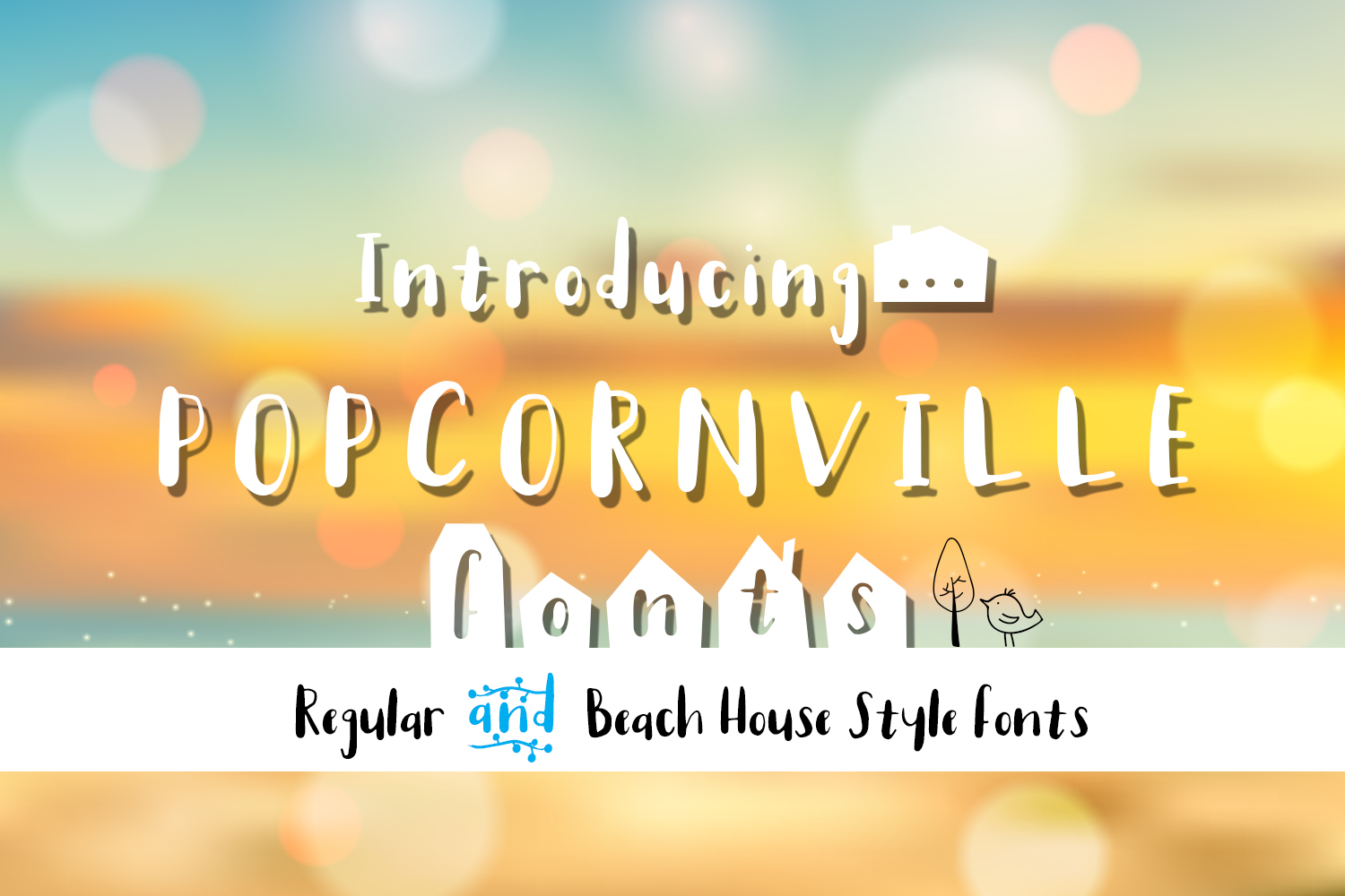 Popcornville font and beach house style - two style fonts example image 1