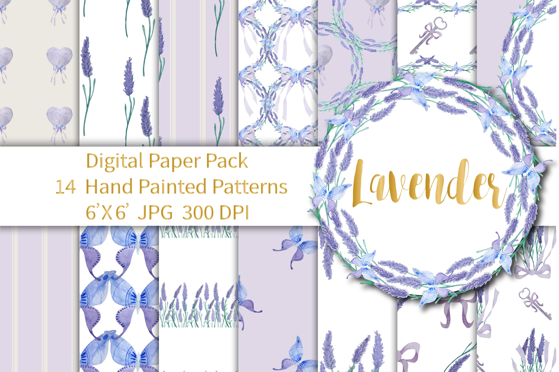 Lavender Digital Paper example image 1