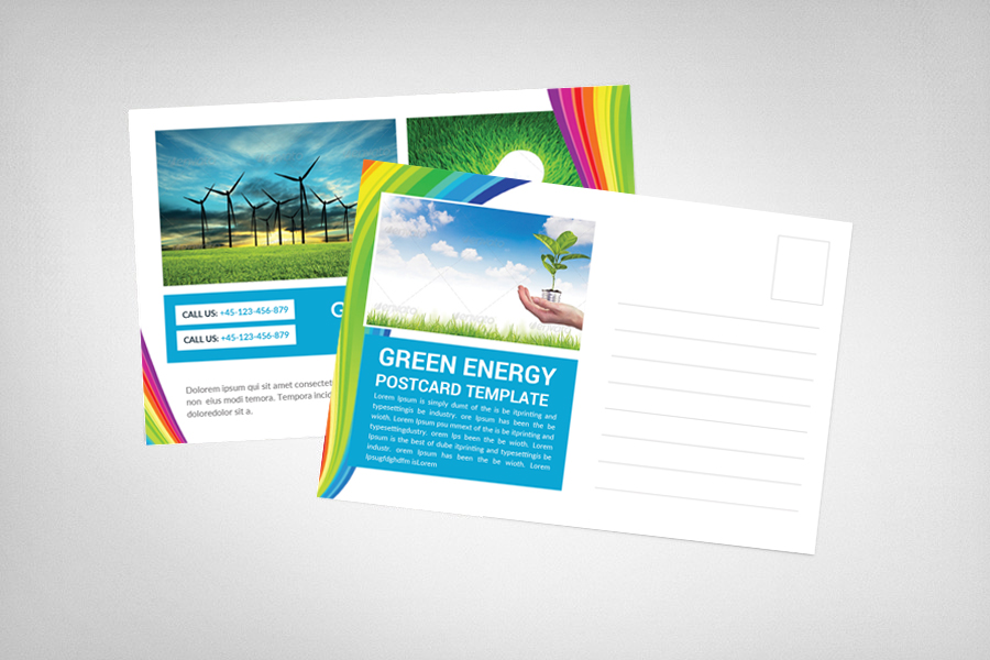 Green Energy Business Postcard example image 2