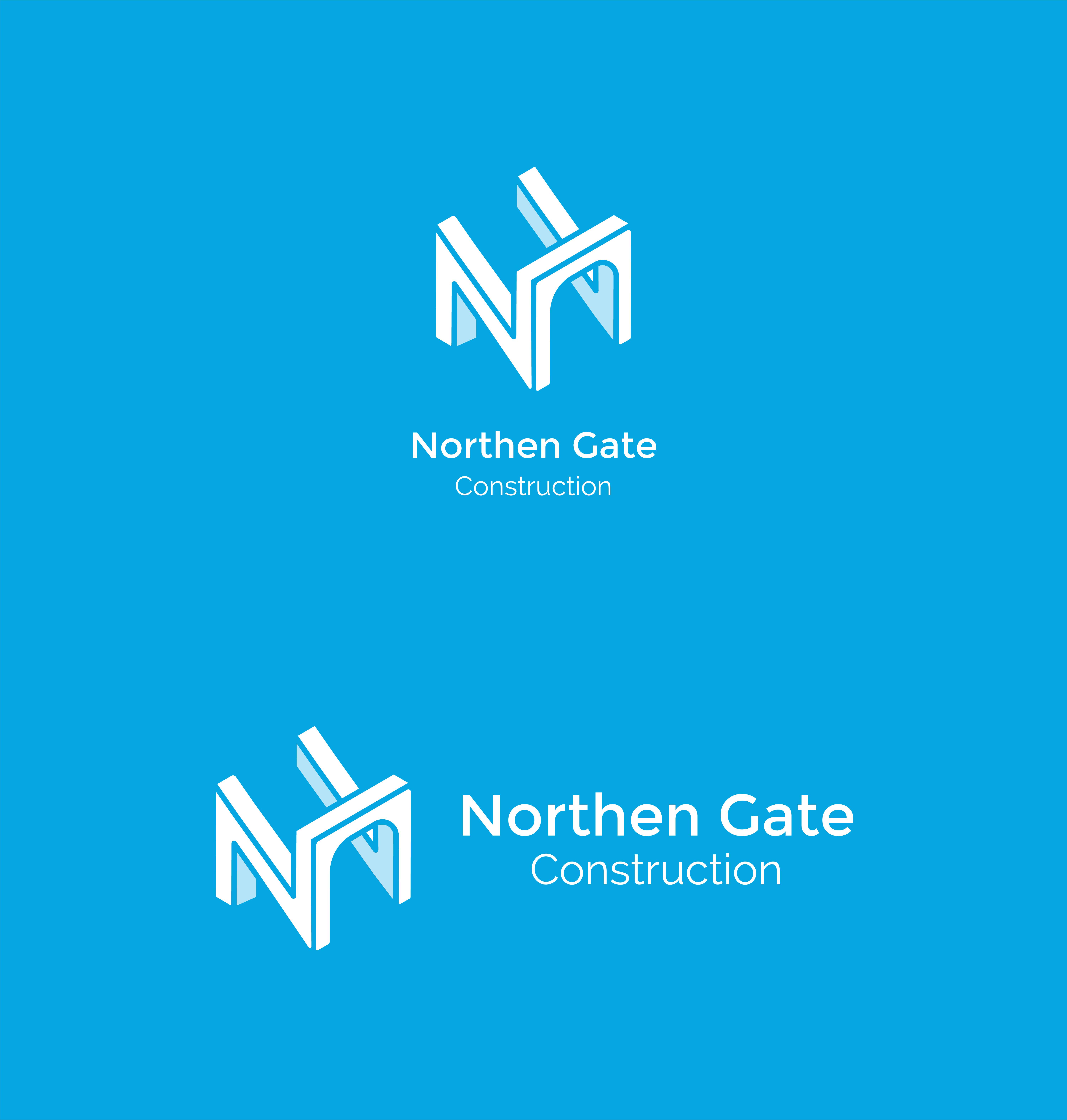 Letter N - Construction Gate Bridge Logo Logo Template example image 3