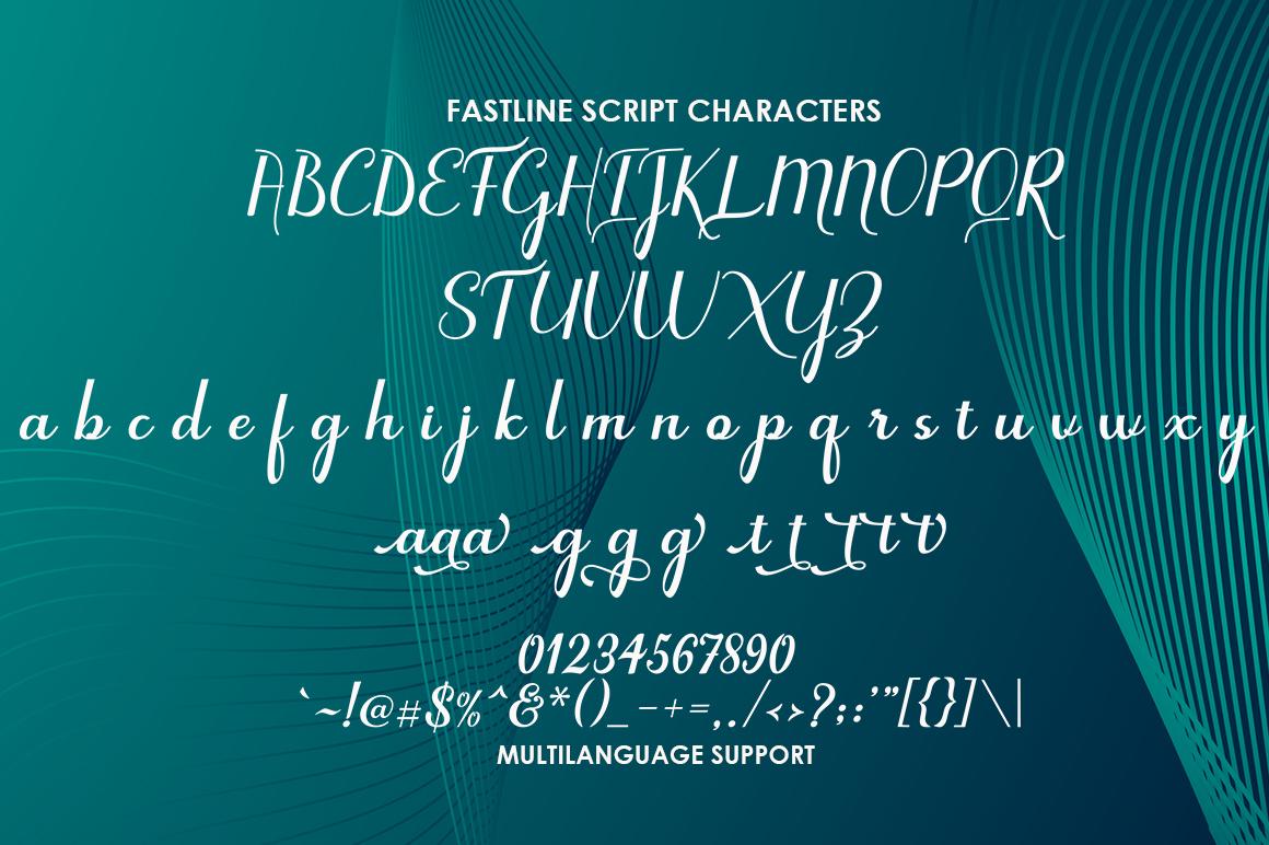 Fastline Script example image 4