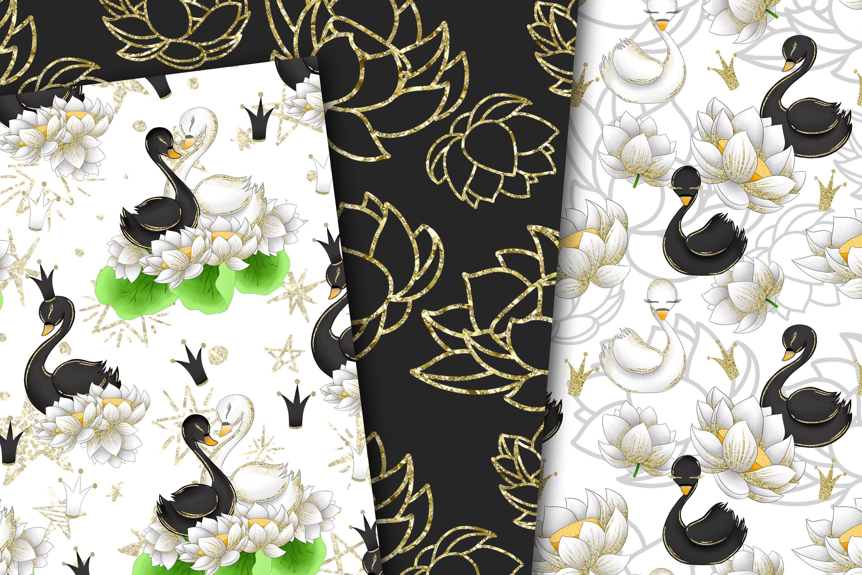 Swans digital paper example image 4