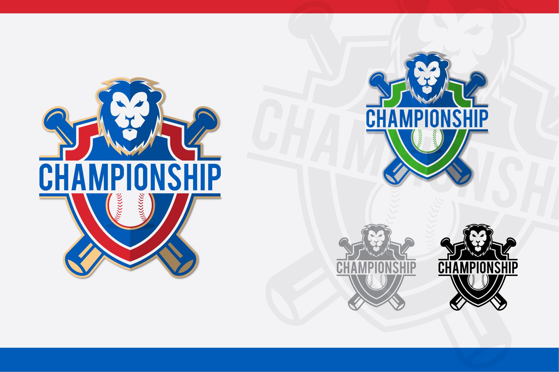 lion baseball logo example image 1