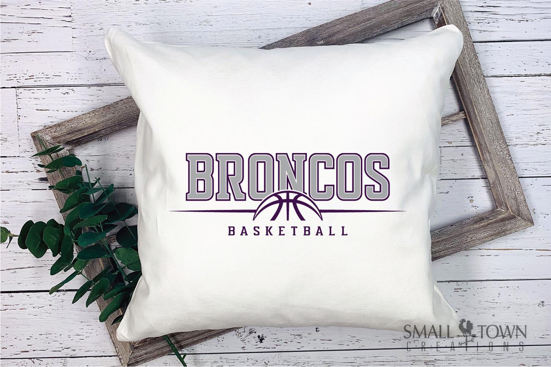 Bronco Basketball Logo, Team, Sports, PRINT, CUT & DESIGN example image 3